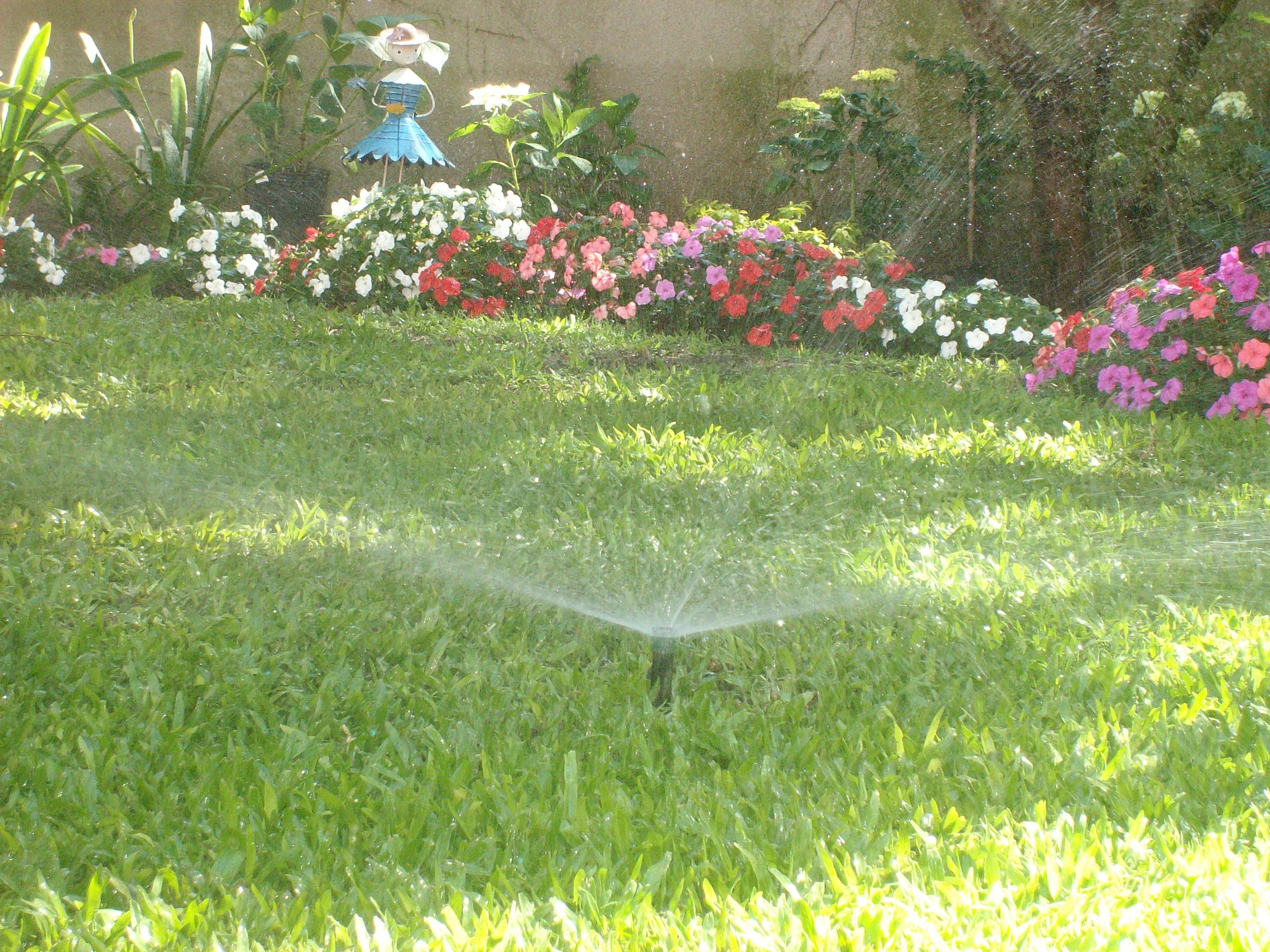 Riegos en jardines sistemas de riegos ariel aspersi n for Sistema de riego jardin vertical